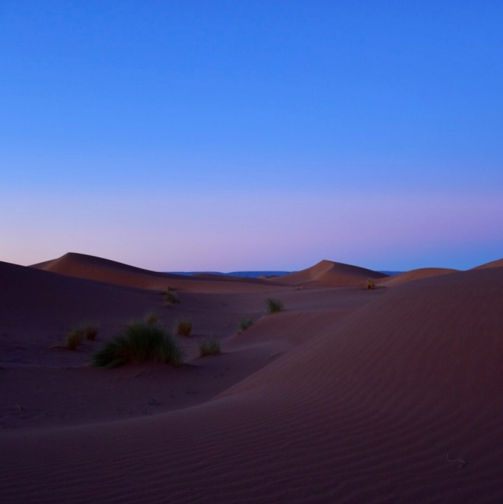 La Kahena luxury camp Erg Chigaga Sahara evening light