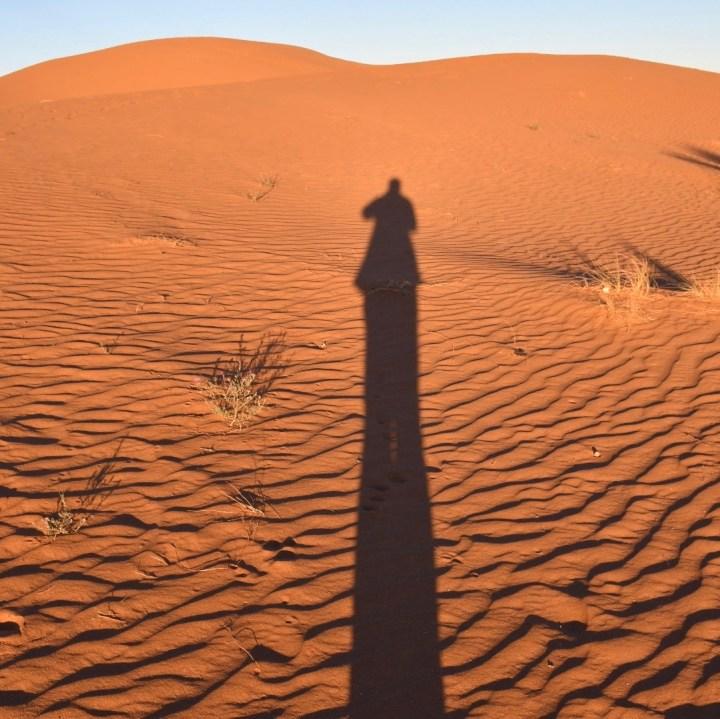 La Kahena luxury camp Erg Chigaga Sahara shadow