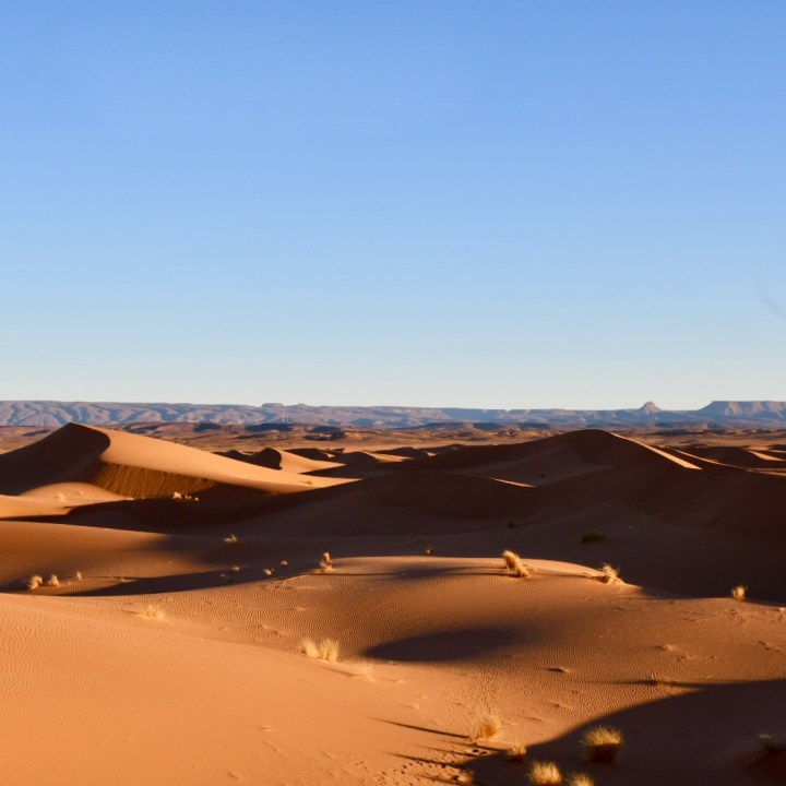 La Kahena luxury camp Erg Chigaga Sahara panorama