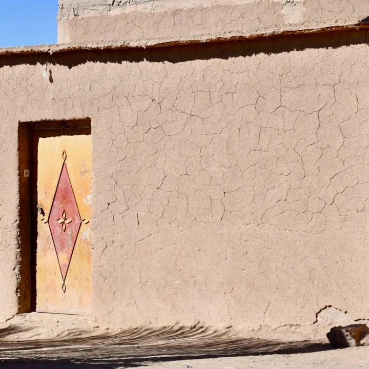 Agdz Morocco with kids draa valley hike door