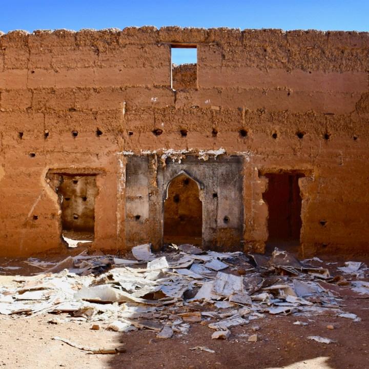Agdz Morocco with kids draa valley hike abandoned