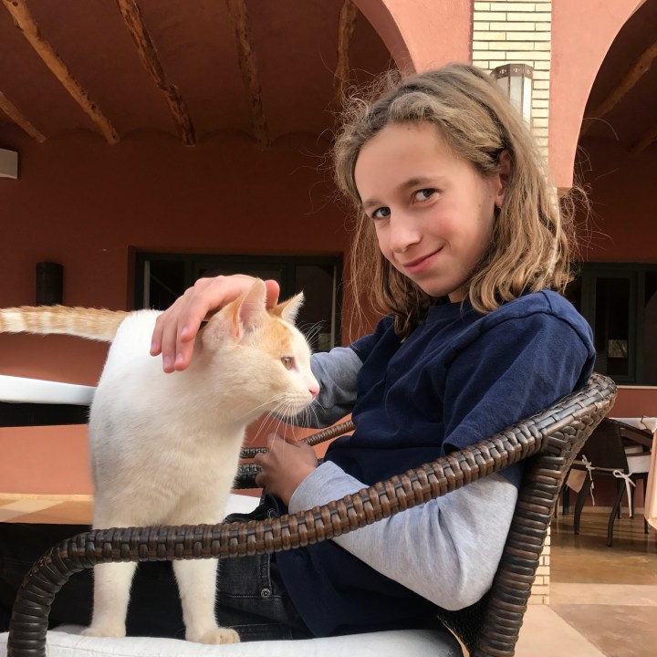 Tifiltoute with kids Morocco cat wisperer