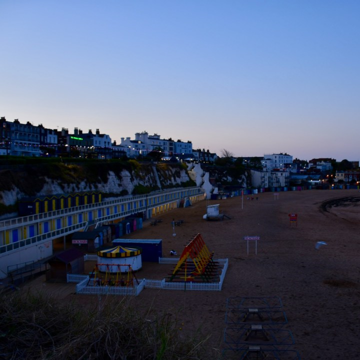 Broadstairs with kids deserted beach