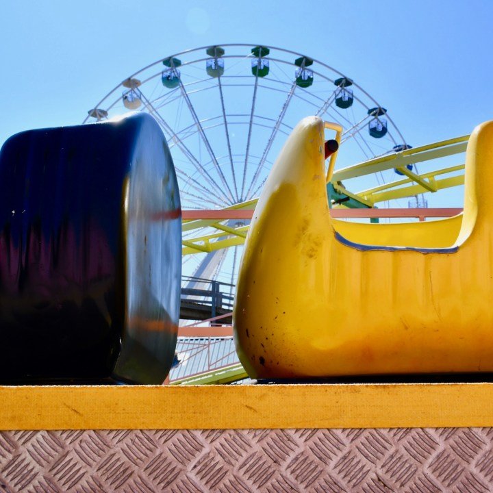 Margate Dreamland with kids beehive coaster