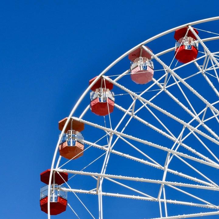 Margate Dreamland with kids big wheel cabins