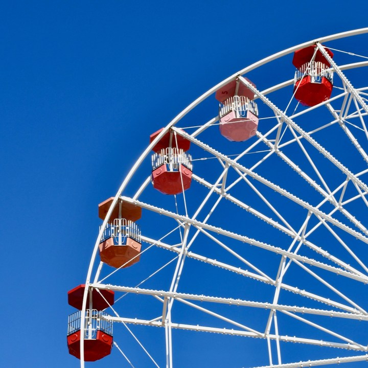 Margate Dreamland with kids big wheel cabins