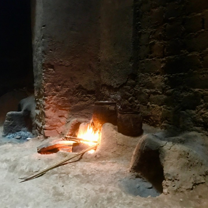 kasbah caids with kids Morocco fire place