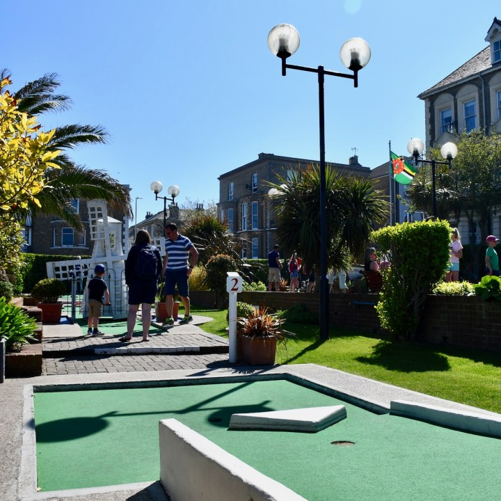 Broadstairs with kids mini golf