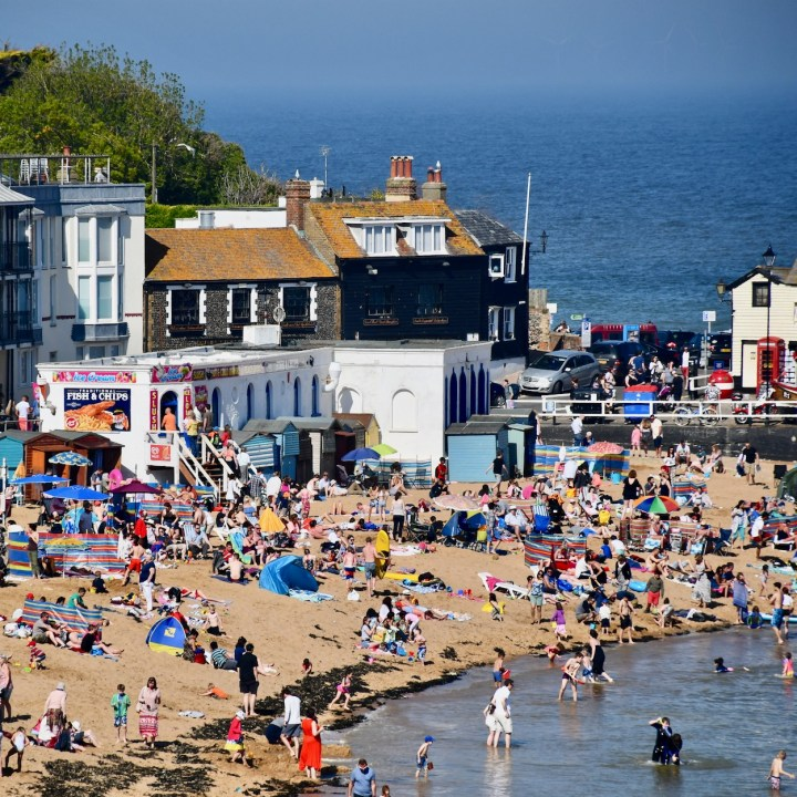Broadstairs with kids fish and chips