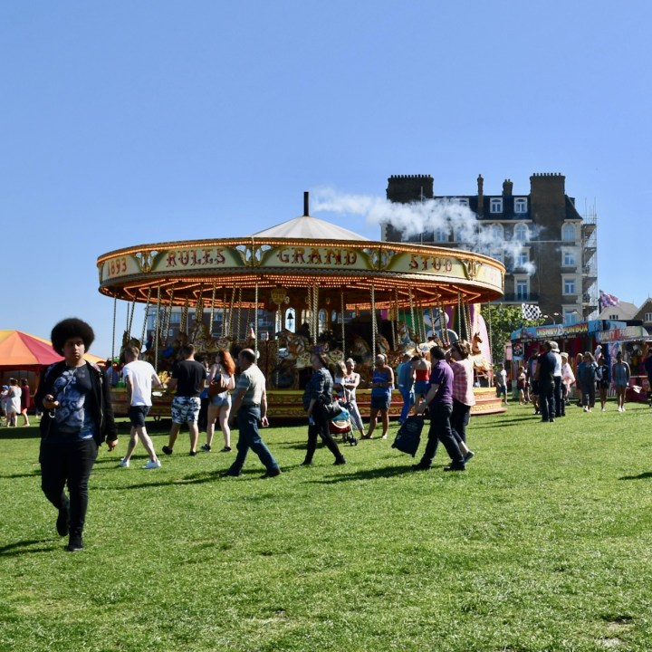 Broadstairs with kids British steam carousel