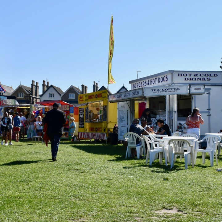 Broadstairs with kids British burgers and hot dogs