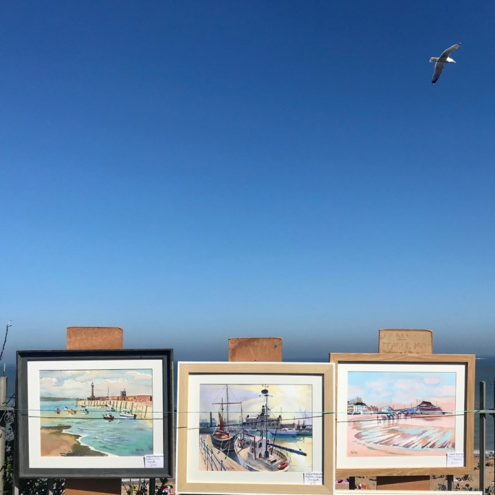 Broadstairs with kids seaside paintings