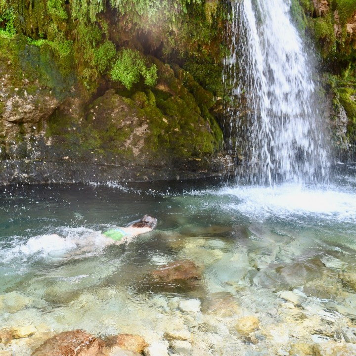 Exploring Georgia with kids Kutaisi waterfalls