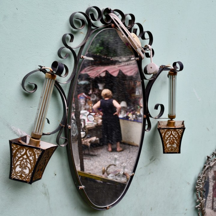 Tbilisi with kids Dry Bridge Market mirrors