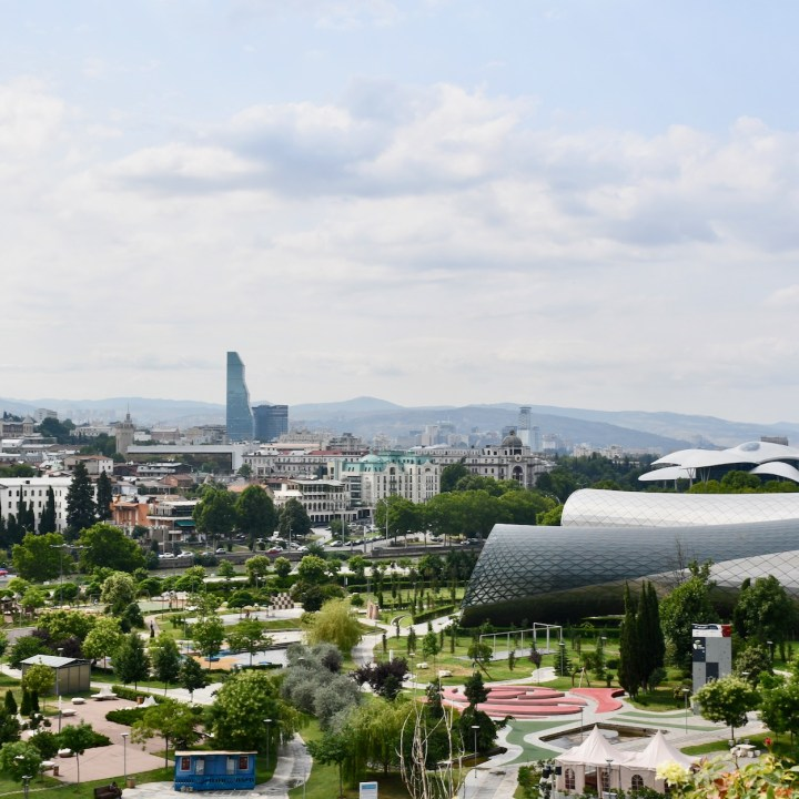 Tbilisi with children modern architecture