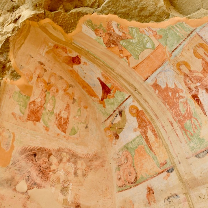 David Gareji Monastery with kids cave paintings