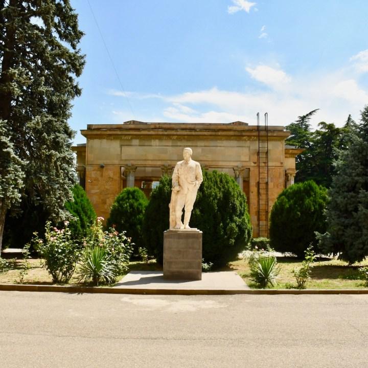 Gori Stalin Museum with kids statue