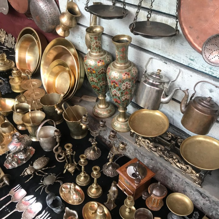 Tbilisi with kids Dry Bridge Market metal plates