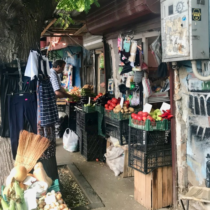 Tbilisi with children fruit and vegetables