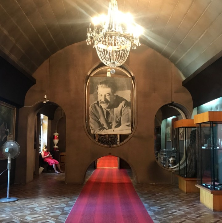 Gori Stalin Museum with kids gifts