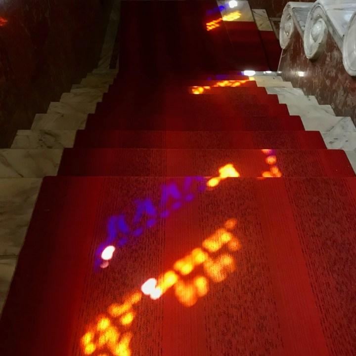 Gori Stalin Museum with kids light effects
