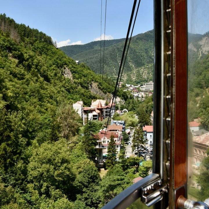 Borjomi with kids town view