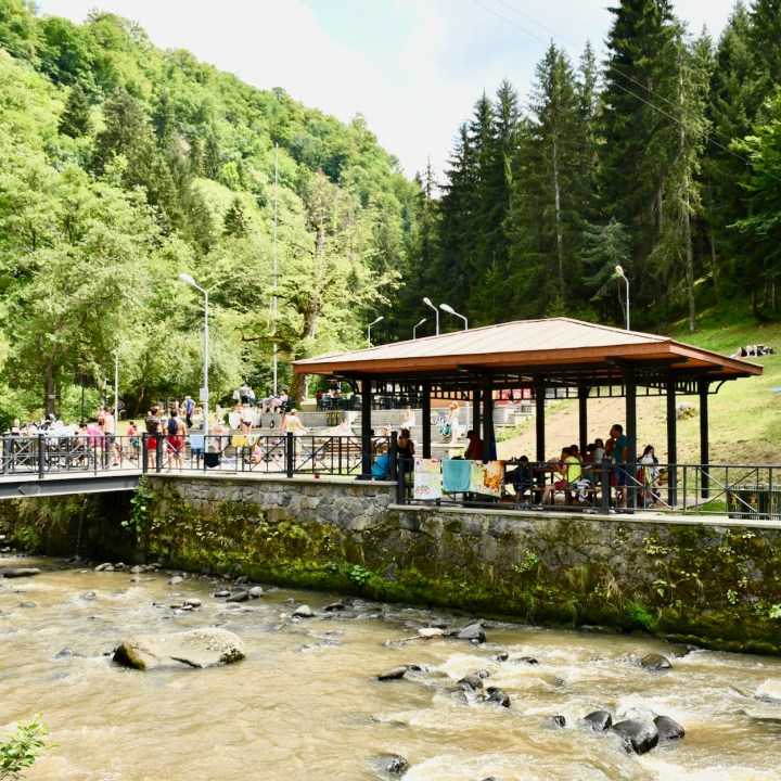 Borjomi with kids adventure trail Tsar Baths