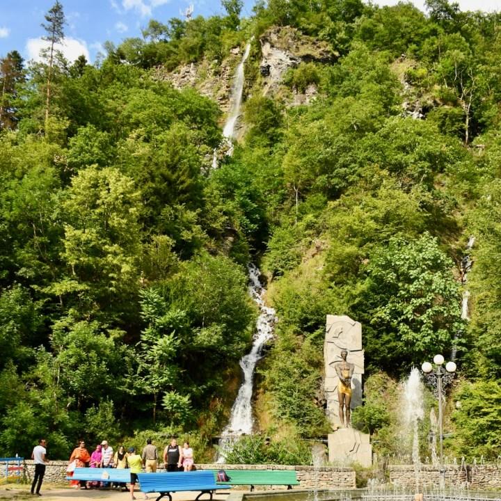 Borjomi with kids adventure trail waterfall
