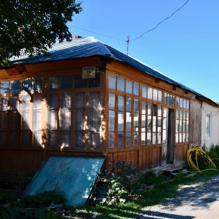 Bakuriani ski resort Georgia with kids wooden house