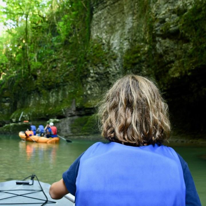 Martvili Canyon Georgia with kids paddles