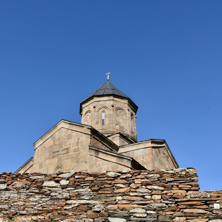 Gergeti church wall