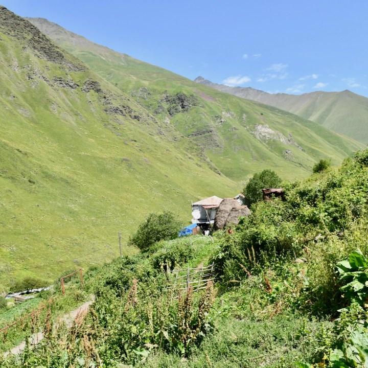 Juta hike village view