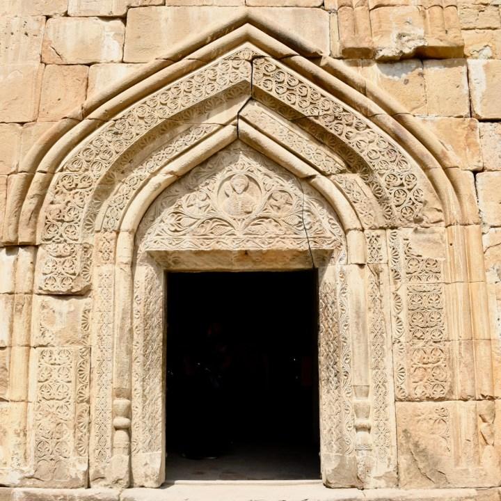 Ananuri church Georgia entrance door