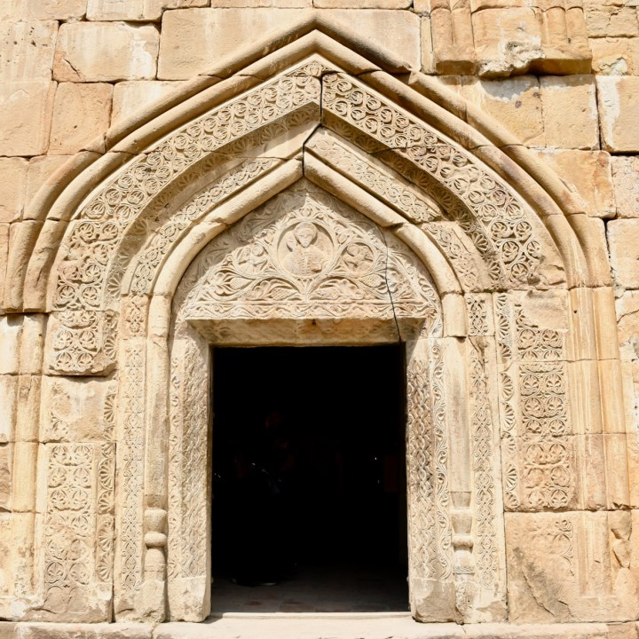 Ananuri church Georgia entrance door