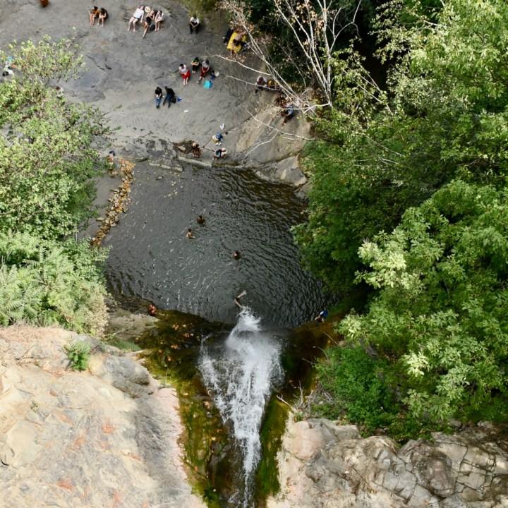 Tbilisi botanical garden waterfall pool
