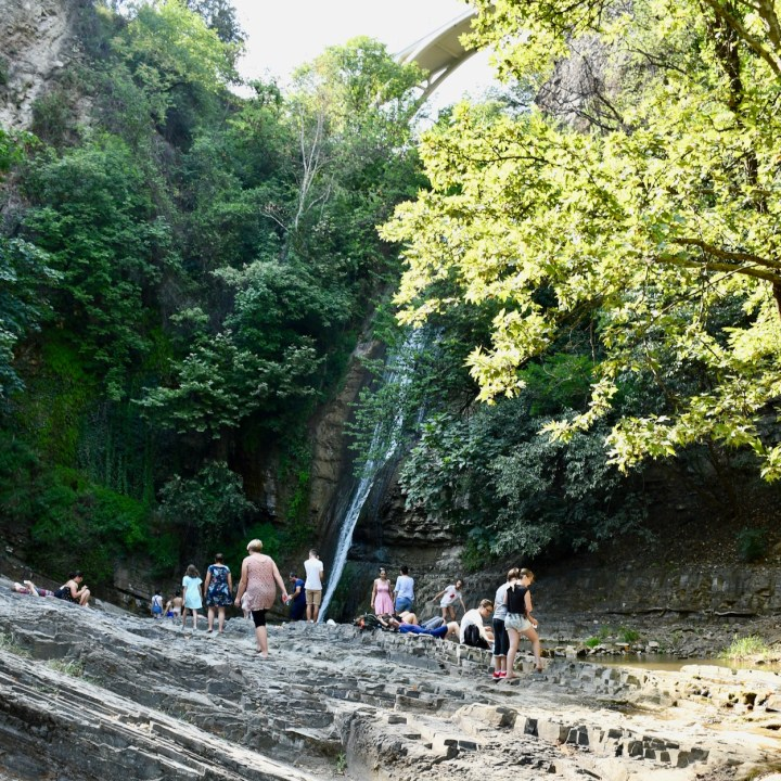 Tbilisi botanical garden wild swimming