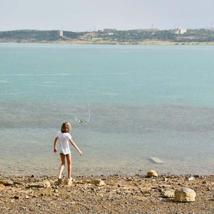 Tbilisi Sea skipping stones