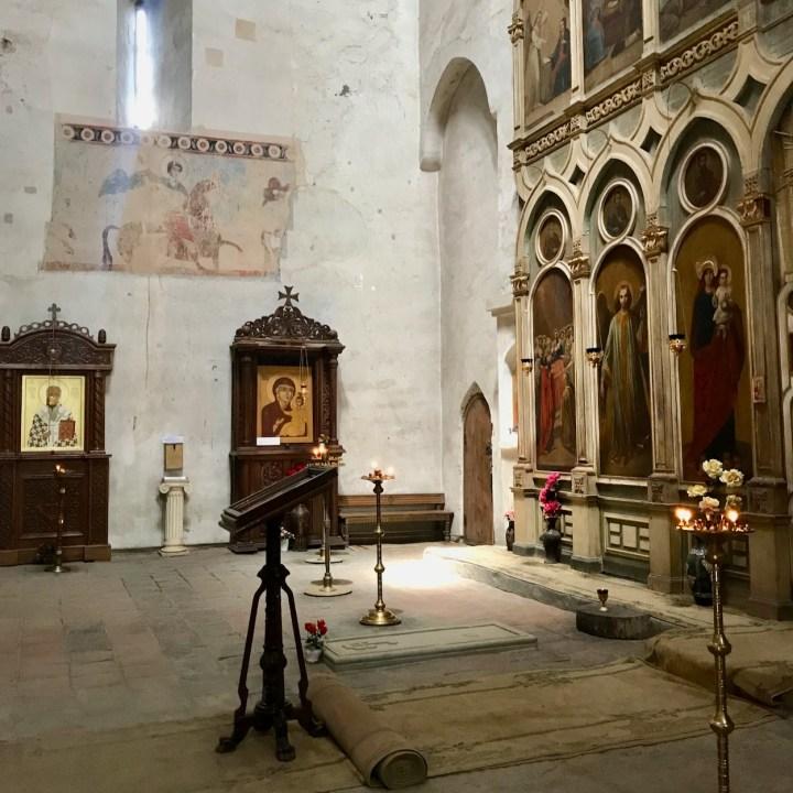 Ananuri church Georgia altar