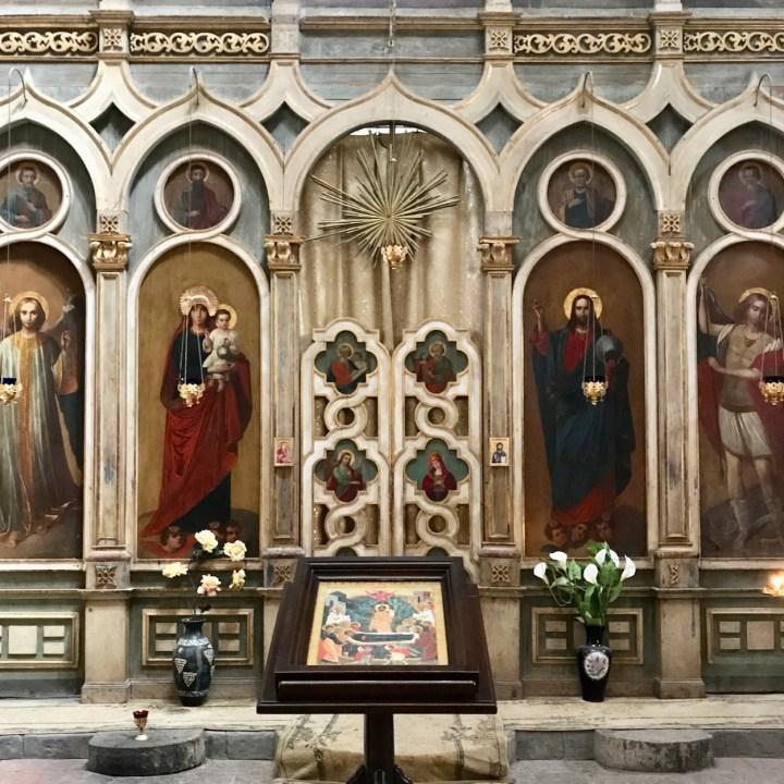 Ananuri church Georgia saints