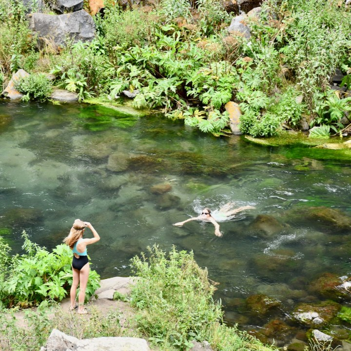Dashbashi canyon wild swimming spot