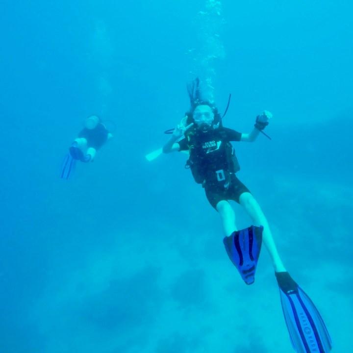 teenage diver Maldives
