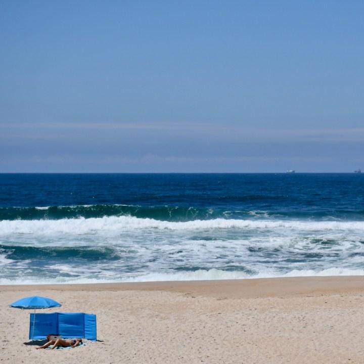 Costa Nova Portugal beach sun bathing