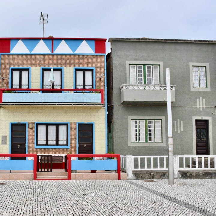 Costa Nova Portugal coloured houses