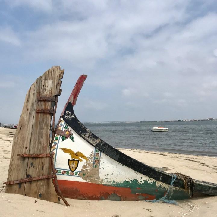 Costa Nova Portugal sunken boat