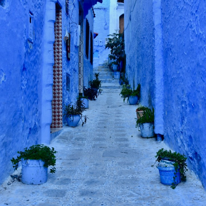 Chefchaouen Morocco blue alley