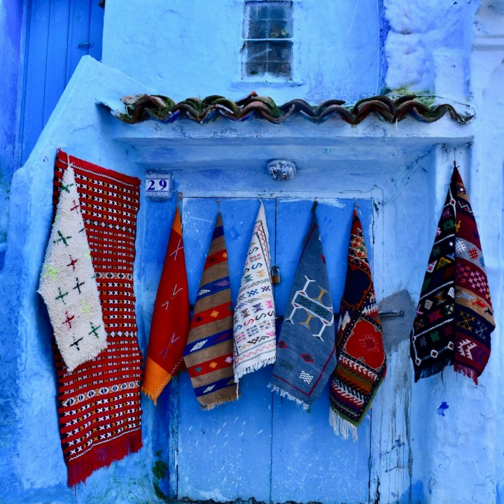 Chefchaouen Morocco carpet shop