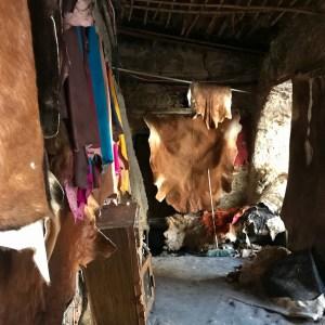 Fez Ain Azliten tannery leather shop