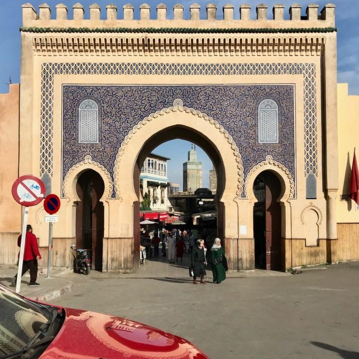 Fez Medresa blue gate