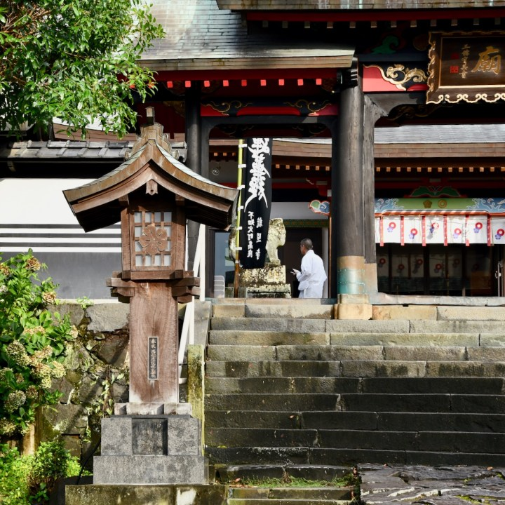 Honmyoji temple monk