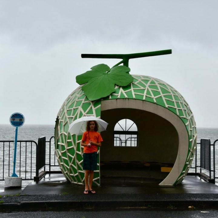 Melon bus stop Japan